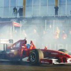 Fernando Alonso en las Finales Mundiales de Ferrari 2012