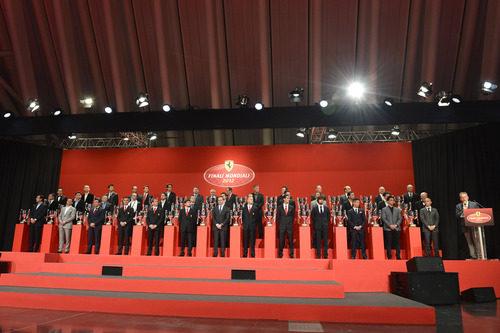 Los trofeos de las Finales Mundiales de Ferrari 2012