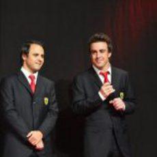 Felipe Massa y Fernando Alonso en las Finales Mundiales de Ferrari 2012