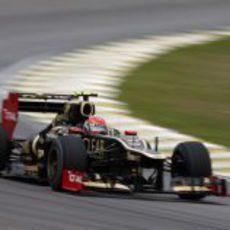 Romain Grosjean cayó en Q1 en Interlagos