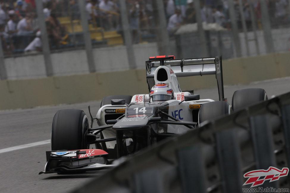 Kamui Kobayashi no llegó a la Q3 en la clasificación de Brasil
