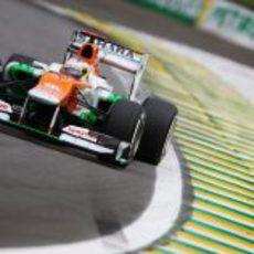 Paul di Resta se quedó a tres décimas de la Q3 en Brasil