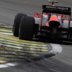 Charles Pic superó a los dos HRT en la clasificación de Brasil