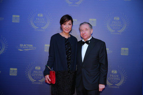 Jean Todt y su mujer en la Gala de la FIA 2012