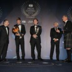 Todt, Vettel, Horner, Ecclestone y Coulthard en la Gala 2012 de la FIA