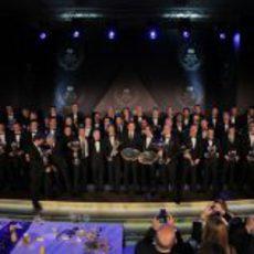 Foto de familia en la Gala de la FIA 2012 en Estambul