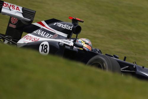Pastor Maldonado no terminó el GP de Brasil 2012