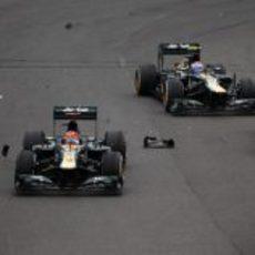 Los dos Caterham evitaron el incidente en la salida del GP de Brasil 2012