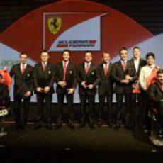 Foto de equipo de Ferrari en Maranello