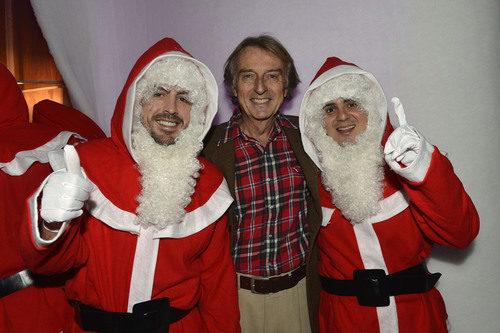 Fernando Alonso y Felipe Massa vestidos de Papá Noel