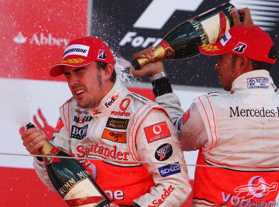 Doble podio en el Gran Premio de Gran Bretaña 2007
