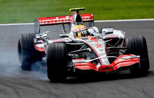 Lewis Hamilton y el MP4-22 en Bélgica