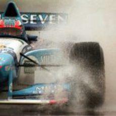 Defendiendo el título en el Gran Premio de Argentina