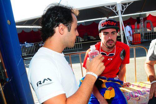 Compañeros en Ferrari, rivales en el Desafio