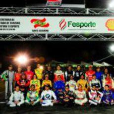 Foto de familia en el  'Desafio das Estrelas 2013'