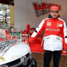 Fernando Alonso posa en Madonna di Campiglio
