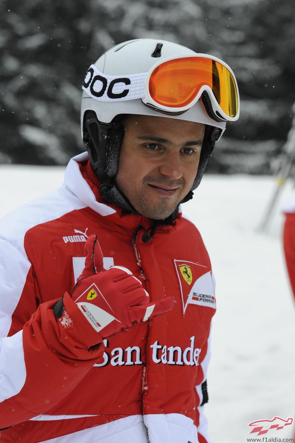 Felipe Massa, dispuesto a esquiar en Madonna