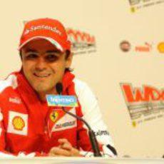 Felipe Massa atiende a la prensa en Madonna di Campiglio