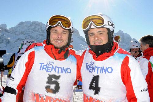 Giancarlo Fisichella y Felipe Massa, listos para esquiar