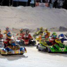Salida de la carrera de karts del 'Wrooom 2013'