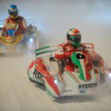 Giancarlo Fisichella fue un duro rival para el bicampeón