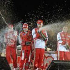 Fernando Alonso celebra su triunfo en el 'Wrooom 2013'