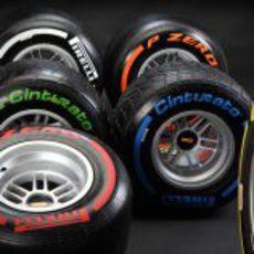 Las 6 gomas Pirelli para 2013