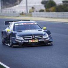 Kubica en pista con el Mercedes C-Coupé