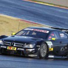 Kubica con el Mercedes DTM en la pista mojada de Cheste