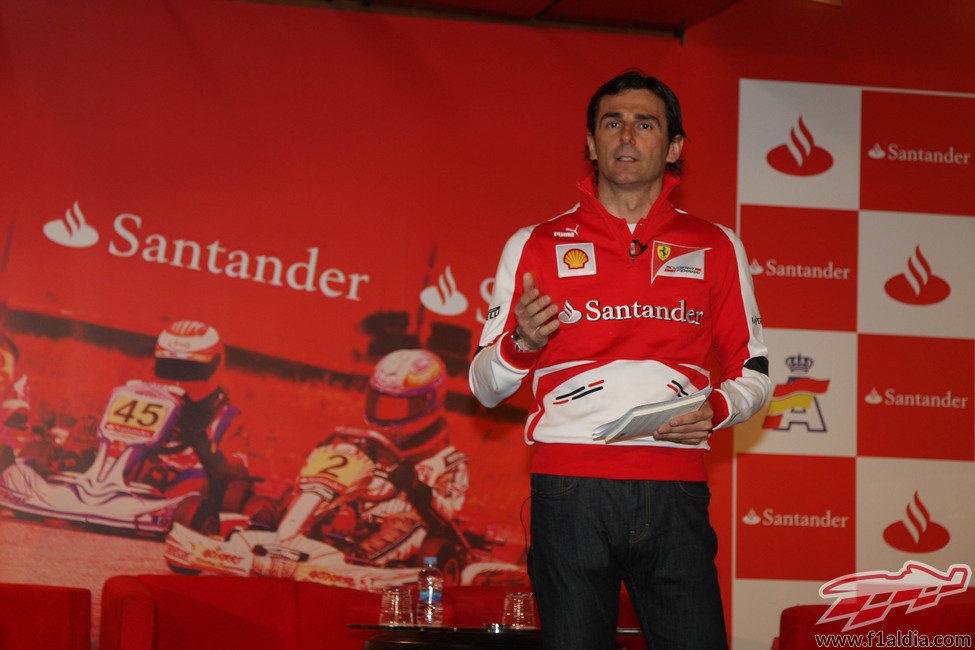 Discurso de Pedro de la Rosa durante su acto como piloto de Ferrari
