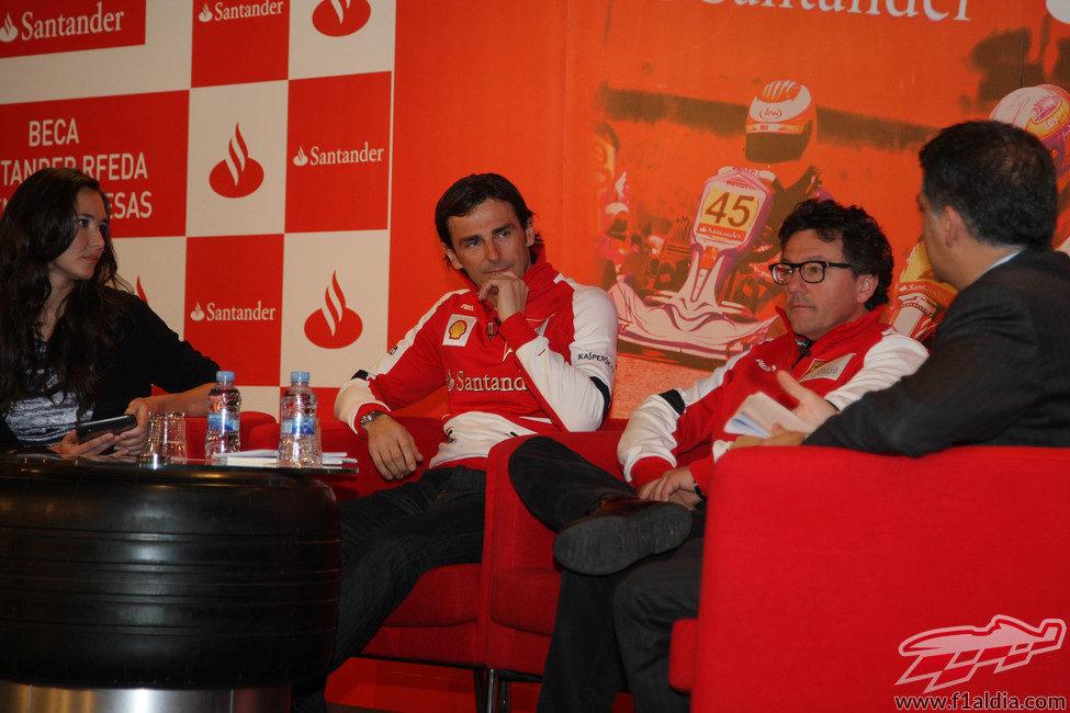 Pedro durante el acto organizado por la RFEdA y el Santander