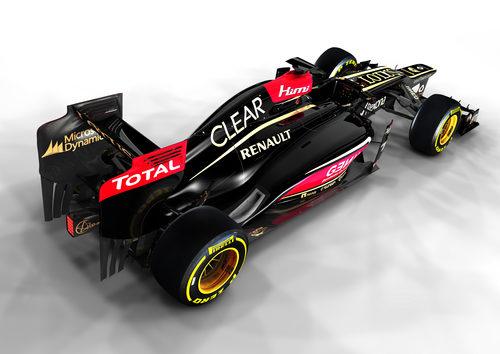 Vista trasera del E21, el Lotus de la temporada 2013