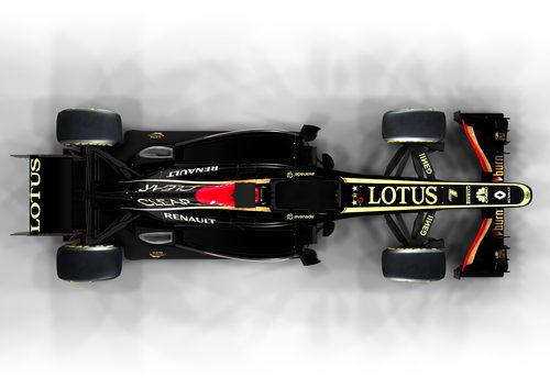 Vista superior del E21, el monoplaza de Lotus para la temporada 2013