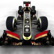 Vista frontal del nuevo Lotus E21 de 2013