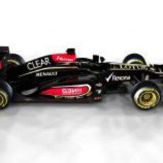 Vista lateral del nuevo Lotus E21 de 2013