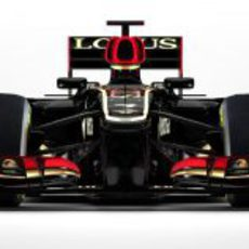 Vista frontal del nuevo Lotus E21 para la temporada 2013