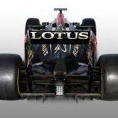 Vista trasera del E21, el Lotus de 2013