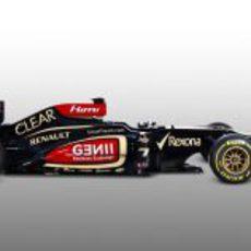Lotus E21 de 2013 en vista lateral