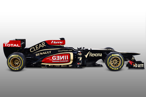 Lotus E21 de 2013 en vista lateral