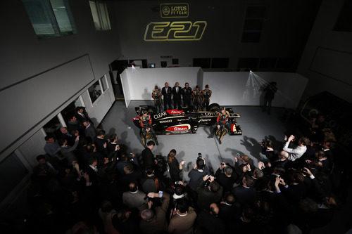 Presentación en sociedad del Lotus E21 en Enstone