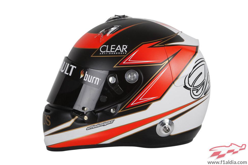 Casco de Kimi Räikkönen para 2013