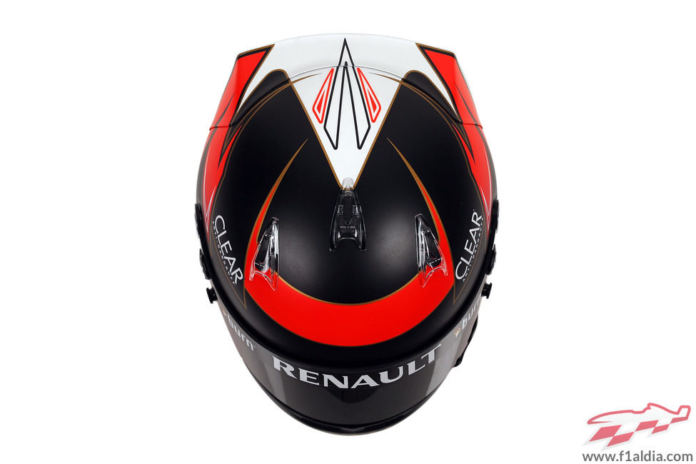 Casco de Kimi Räikkönen para 2013 (superior)