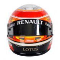 Casco de Romain Grosjean para 2013 (frontal)