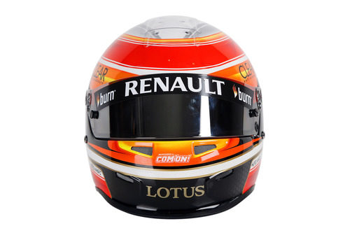 Casco de Romain Grosjean para 2013 (frontal)