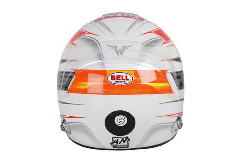 Casco de Romain Grosjean para 2013 (trasera)