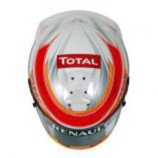 Casco de Romain Grosjean para 2013 (superior)