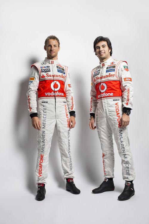 Jenson Button y Sergio Pérez, los pilotos de McLaren para 2013
