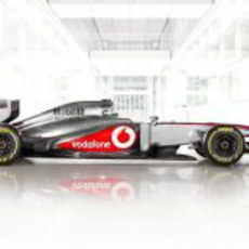 El McLaren MP4-28 en vista lateral