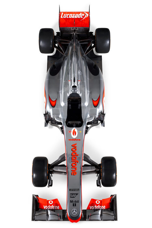 El McLaren MP4-28 en vista superior