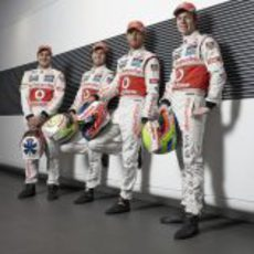 Paffett, Pérez, Button y Turvey, pilotos de McLaren en 2013